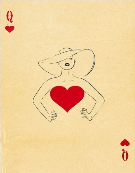 Quel est le nom de la dame de coeur dans un jeu de cartes ?