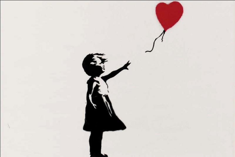 """Qu'est-il arrivé à cette toile de Banksy intitulée """"Girl with Balloon"""" ?"""