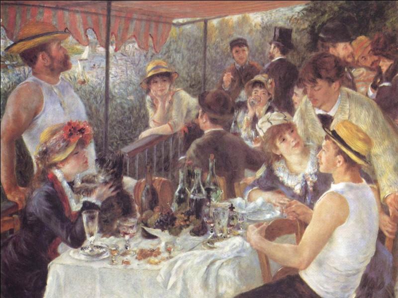 """Quel peintre peut-on voir dans le tableau d'Auguste Renoir """"Le Déjeuner des canotiers"""" ?"""