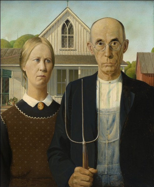 Quel était le prénom du peintre américain Wood ?