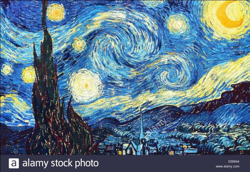 """Vincent van Gogh a peint """"La Nuit étoilée"""" lorsqu'il était interné à l'asile de Saint-Rémy-de-Provence."""