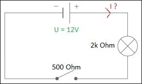 Quelle est la valeur du courant I dans ce circuit ?