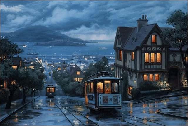 """Il a mis en chanson ses inoubliables vacances dans """"la maison bleue"""" de San Fransisco :"""