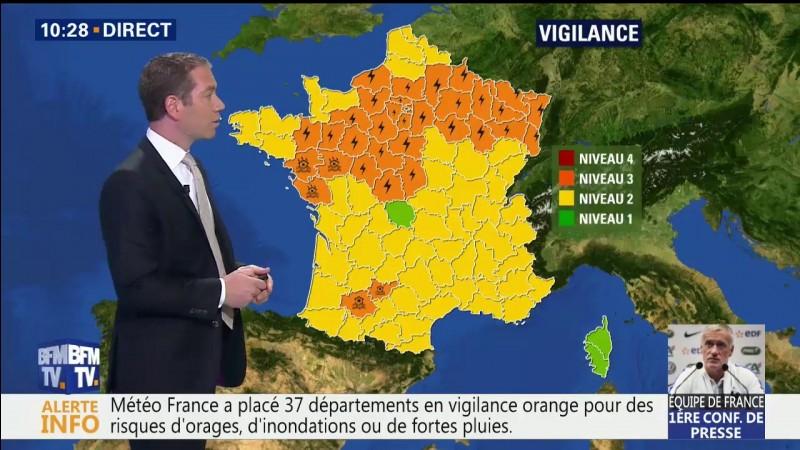 Ce même jour, 11 départements ont été placés en vigilance orange pour ...