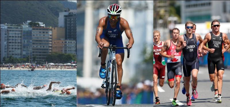 Par quelle épreuve le triathlon débute-t-il ?