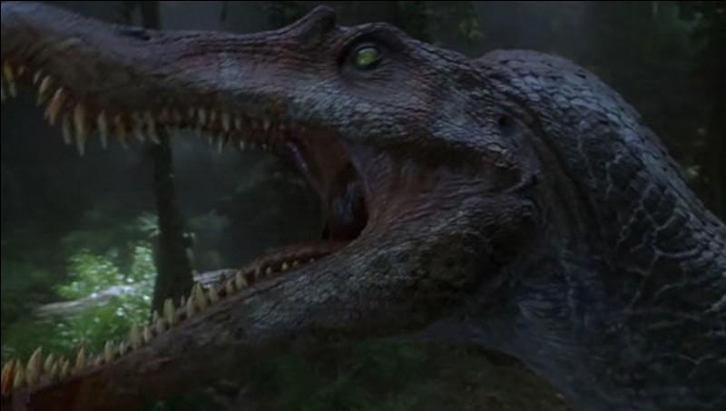 De quelle couleur est le T-Rex qu'il affronte ?