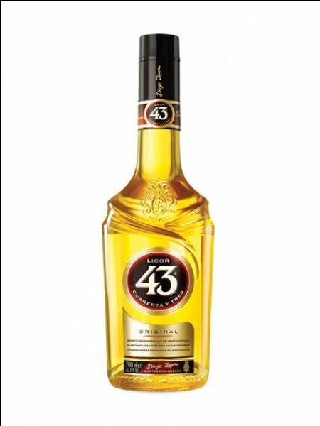 Quel est le pays d'origine de la liqueur 43 ?