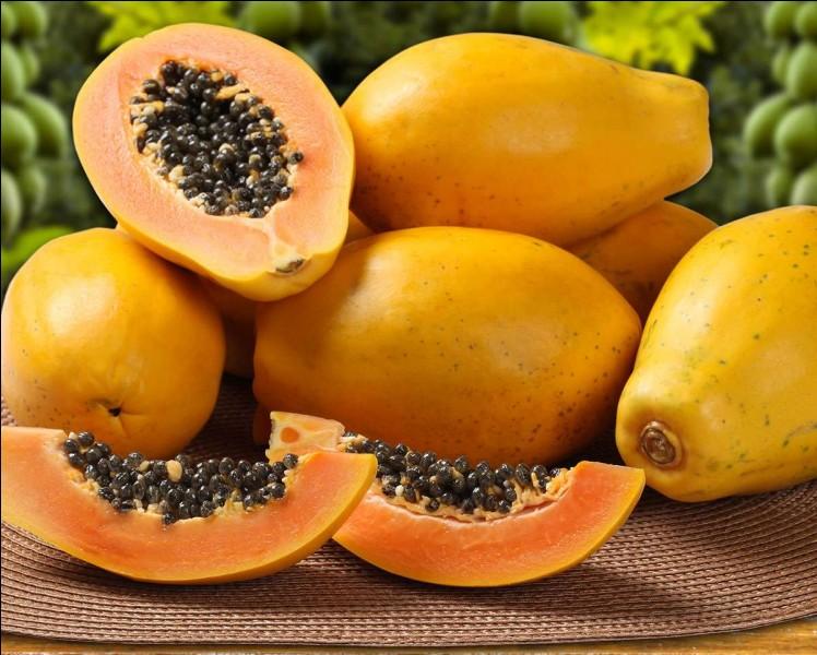 Quel est ce gros fruit à la chair très sucrée, mais peu calorique, originaire du mexique ?
