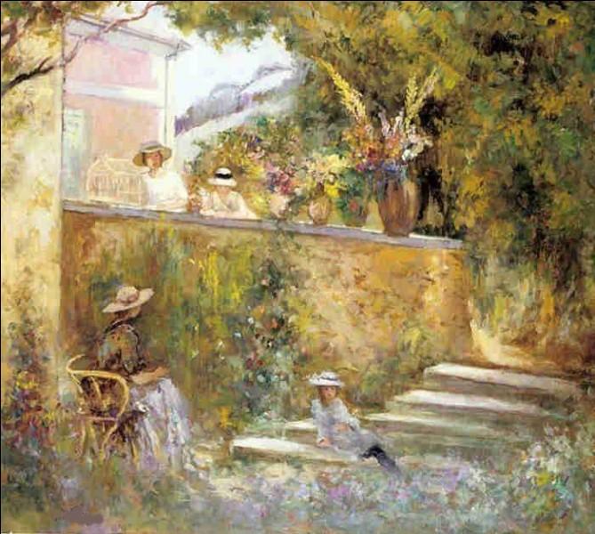 """Qui a représenté Nono et Marthe dans le jardin"""" ?"""