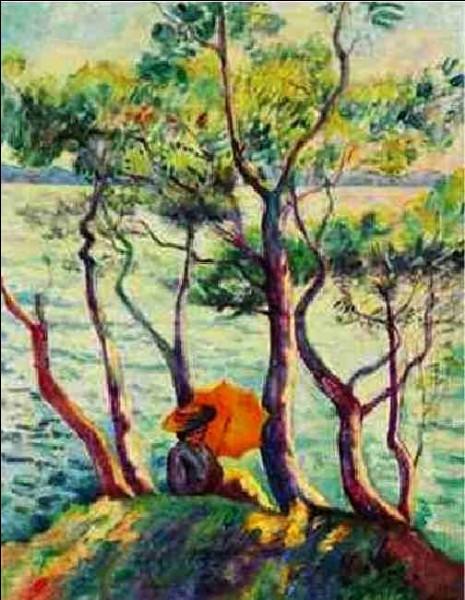 """Qui a peint """"Jeanne à l'ombrelle"""" à Cavalière"""" ?"""