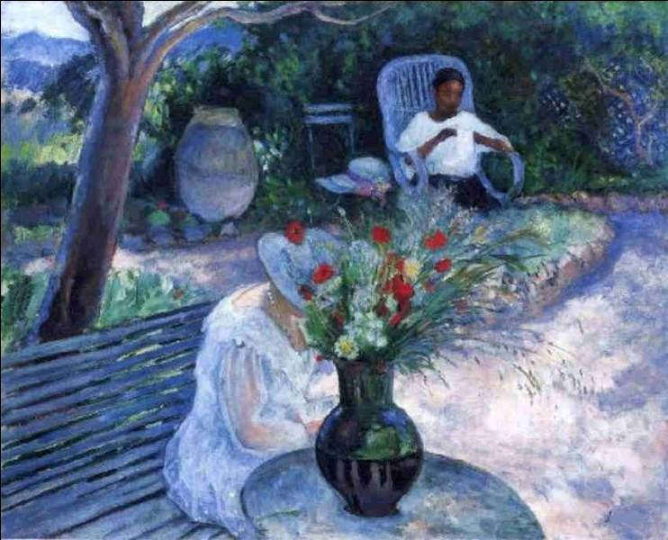 """Qui a réalisé la toile""""Le Jardin au Pradet"""" ?"""