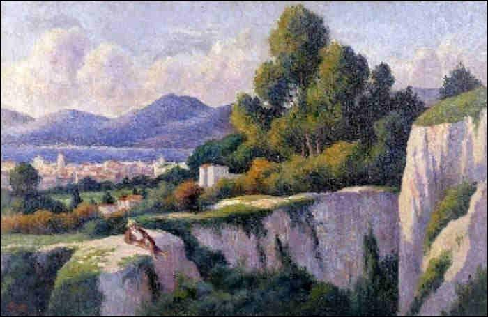 """Qui a peint """"Saint-Tropez vue de la citadelle"""" ?"""