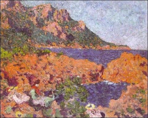 """Qui a peint """"Quatre femmes sur une falaise à Antheor"""" ?"""