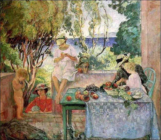 """Qui a peint """"Le Goûter sur la terrasse, à sainte-Maxime"""" ?"""