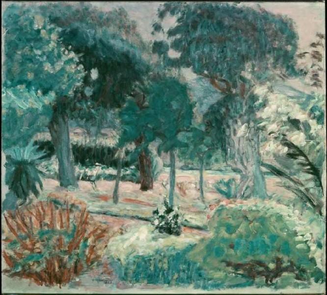 """Qui est l'auteur du tableau représentant """"Le Jardin dans le Var"""" ?"""