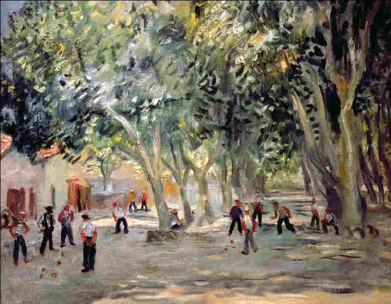 """Qui a représenté """"La Place des Lices à Saint-Tropez"""" ?"""