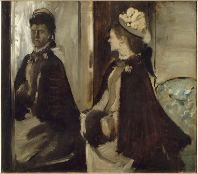 """À qui doit-on la toile intitulée """"Madame Jeanteau au miroir"""" ?"""