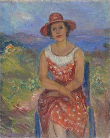"""Qui a peint """"Madame Durand dans ses vignes de Sainte-Anne"""" ?"""