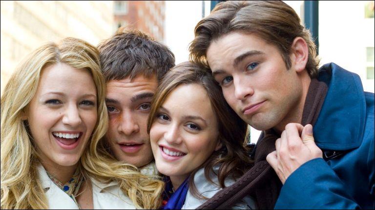 Nate, Chuck, Blair et Serena sont tous les quatre...