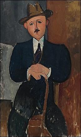 """Qui a peint """"'L'Homme assis, appuyé sur une canne"""" ?"""