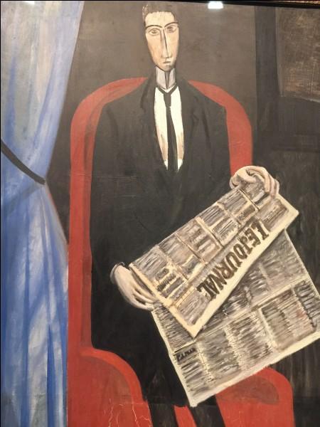 """Qui a peint """"Portrait d'un homme inconnu au journal"""" ?"""