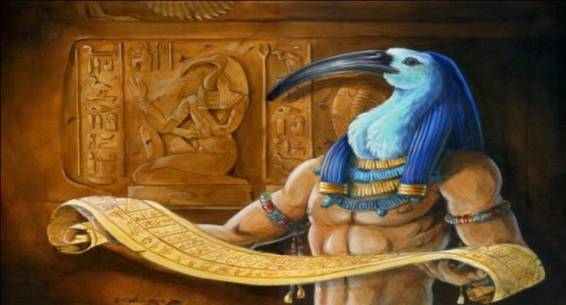Dans la mythologie égyptienne, qui est le dieu inventeur de l'écriture et du langage?