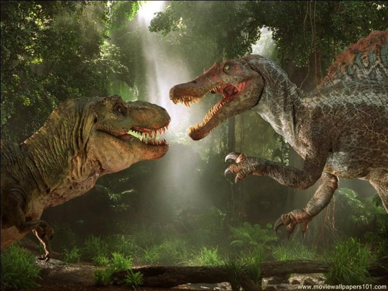Si un T-Rex et un spinosaure se combattaient, d'après toi lequel gagnerait ?