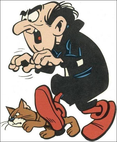 Quel est le nom du chat de Gargamel dans les Schtroumpfs ?