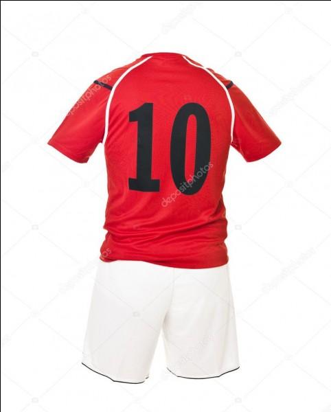 Qui porte le numéro 10 ?