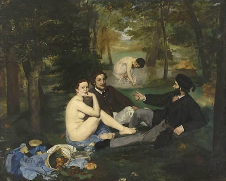 """Qui est l'auteur de ce tableau, intitulé """"Le Déjeuner sur l'herbe"""" ?"""