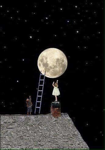 """Les paroles de la chanson """"Ballade à la lune"""" étaient interprétées par Brassens : """"C'était dans la nuit brune, sur un clocher jauni, la lune, comme un point sur un i"""". De qui est à l'origine ce poème ?"""