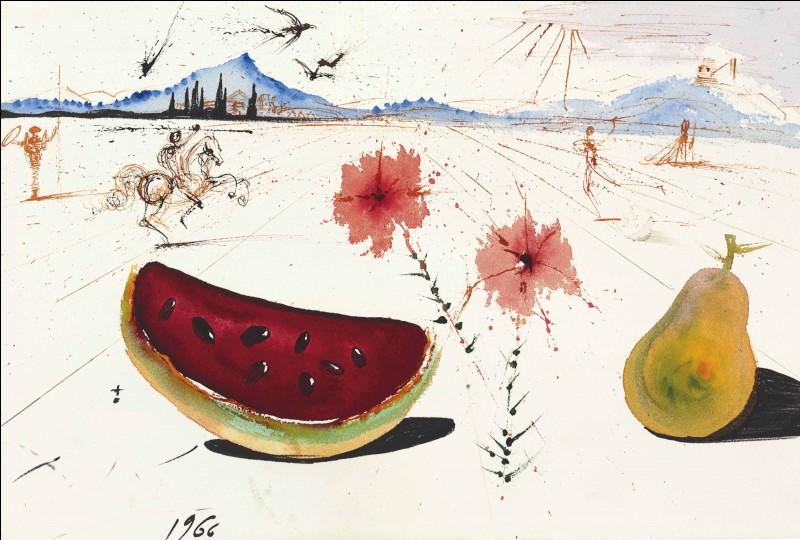 """Qui a peint """"Fleur pastèque et poires dans un paysage ampurdanais"""" ?"""