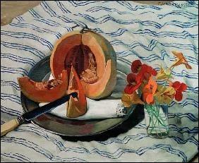 """Qui est le peintre de la toile intitulée """"Nature morte avec melon"""" ?"""
