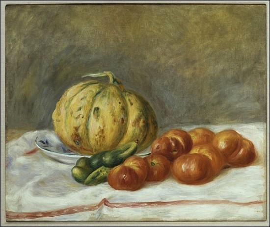 """Qui a peint """"Melon et tomates"""" ?"""