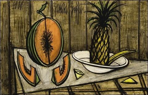 Melons et pastèques en peinture