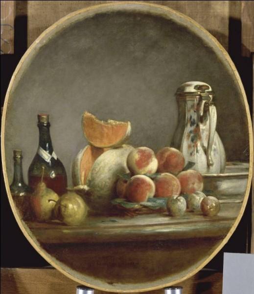 """Qui a peint """"Melons, poires, pêches et prunes"""" ?"""