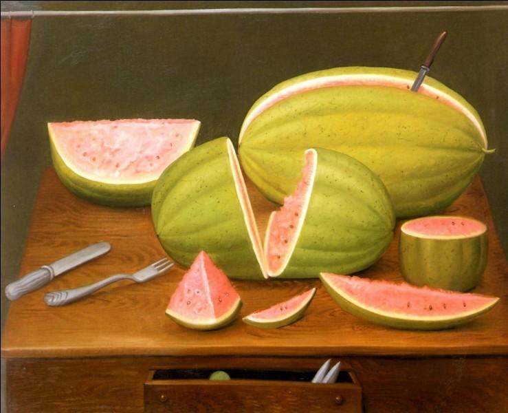 Melons et pastèques en peinture (2)