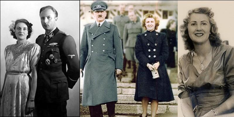 Elle faisait partie du cercle des intimes d'Hitler. Cela ne lui porta pas chance et le sang coula tout autour d'elle ! Son mari fut fusillé, une de ses sœurs, sa fille et son beau-frère se suicidèrent !Qui est-elle ?