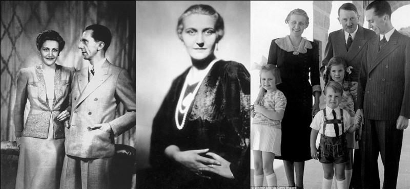Elle sera la « première dame » de l'Allemagne nazie alors que, bien qu'amoureuse d'Hitler, elle ne se mariera pas avec Hitler, mais avec un de ses sbires. Elle commettra « le pire du pire » à la fin du IIIe Reich.Qui est-elle ?