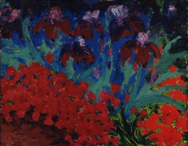 """On finit avec """"Fleurs bleues et violettes"""" de :"""