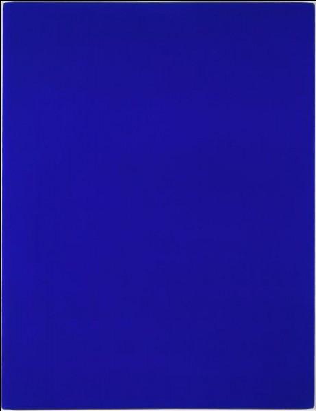À qui appartient ce monochrome bleu ?