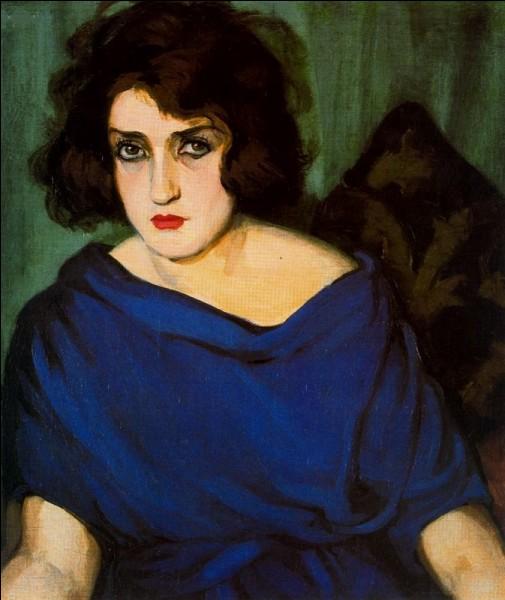 """Qui a fait ce """"Portrait de jeune femme en bleu"""" ?"""
