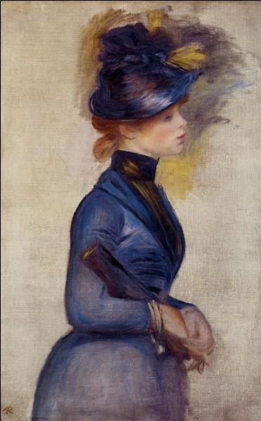 "Qui a peint ""Jeune Femme en bleu vif"" ?"