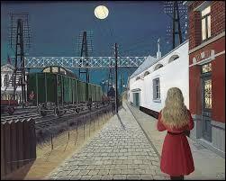 """À quel peintre né à Antheit en 1897 doit-on cette huile sur panneau intitulée """"Solitude"""" (1955) ?"""