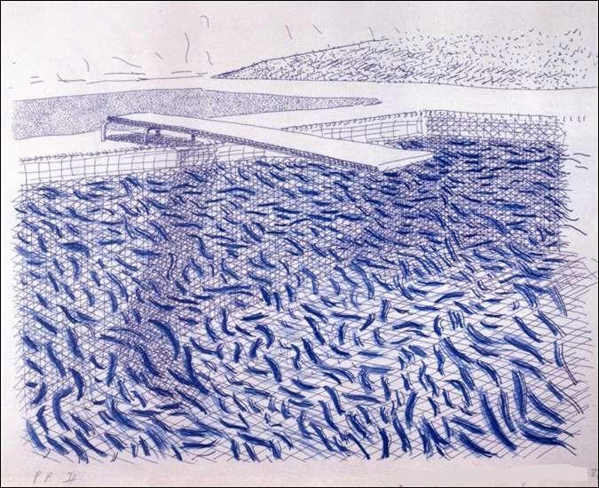 """Qui a réalisé cette lithographie """"bleu piscine"""" ?"""