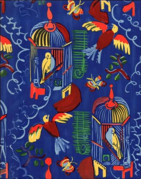 """Qui est l'auteur de la lithographie"""" """"Oiseaux sur fond bleu"""" ?"""