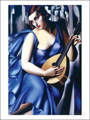 """Qui a représenté cette """"Femme en bleu avec guitare"""" ?"""
