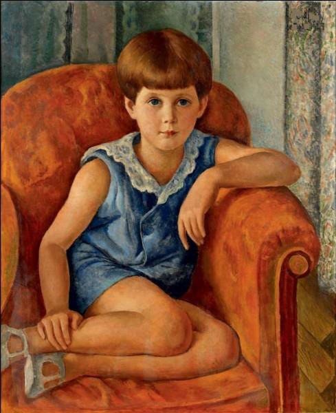 """Qui a réalisé ce """"Portrait d'enfant aux yeux bleus"""" ?"""