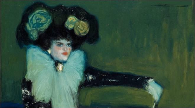 """Et on termine avec cette toile intitulée """"La Femme en bleu"""" de l'artiste :"""