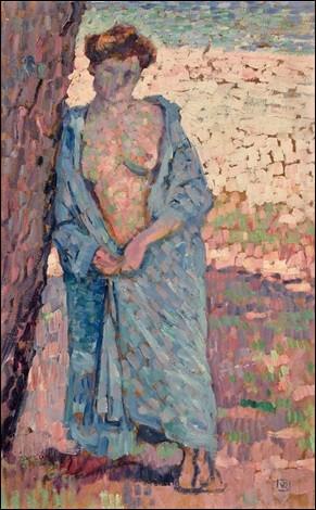 """Qui a représenté cette """"Jeune Femme au peignoir bleu"""" ?"""